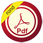 PDF button rond