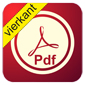 PDF button vierkant
